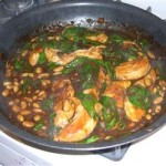 Balsamic Chicken with White Beans and Spinach (Serves Four)