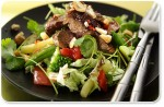 Lean Steak and Mushroom Salad. (Serves Four)